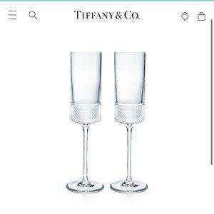 New Tiffany Champagne Flutes